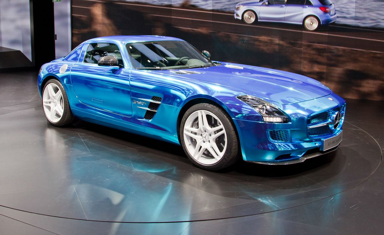 2014 MercedesBenz SLS AMG Electric Drive Photos and Info  News