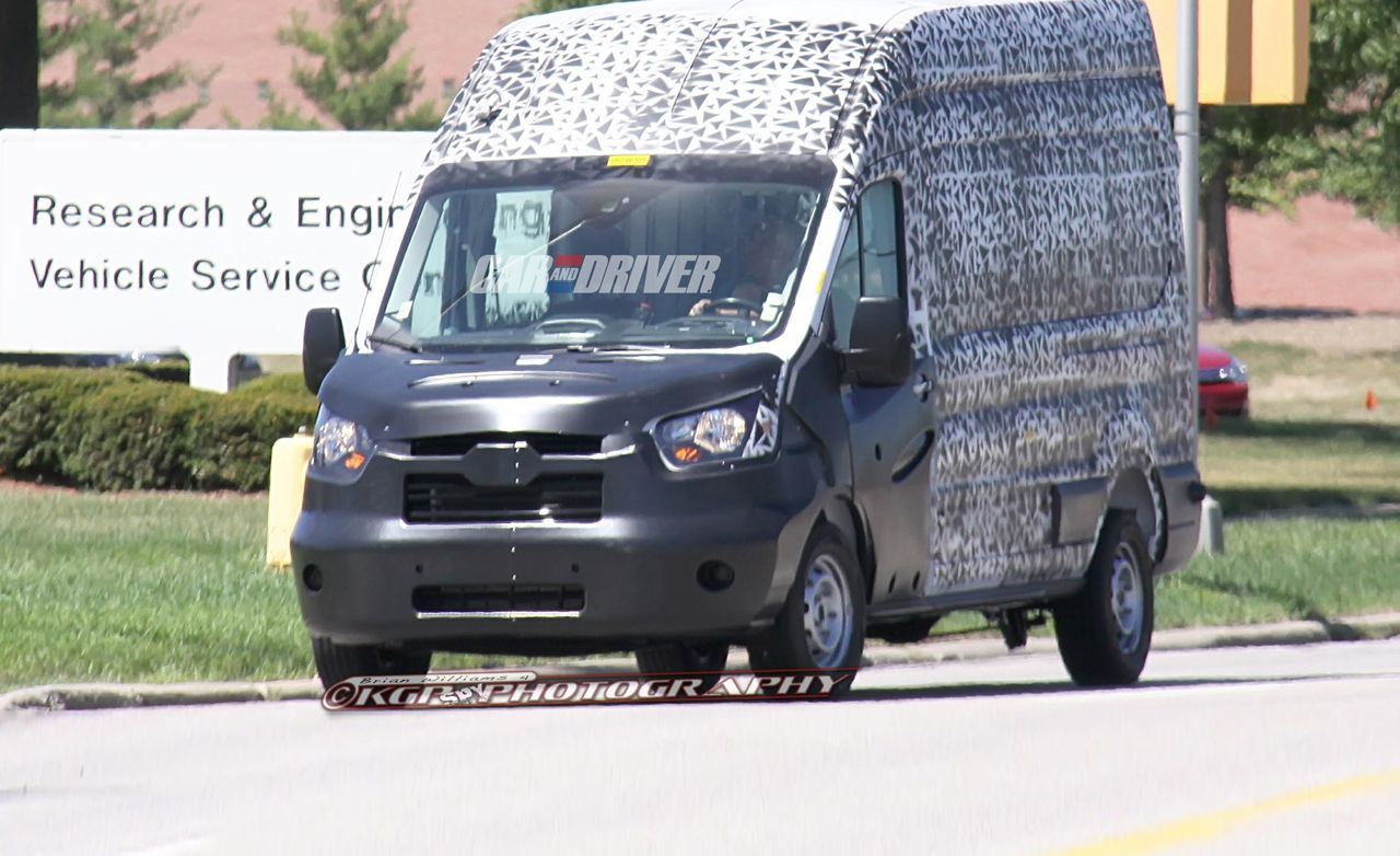 2013 ford transit spy photos so long 1975 new diesel and twin turbo haulers on the way