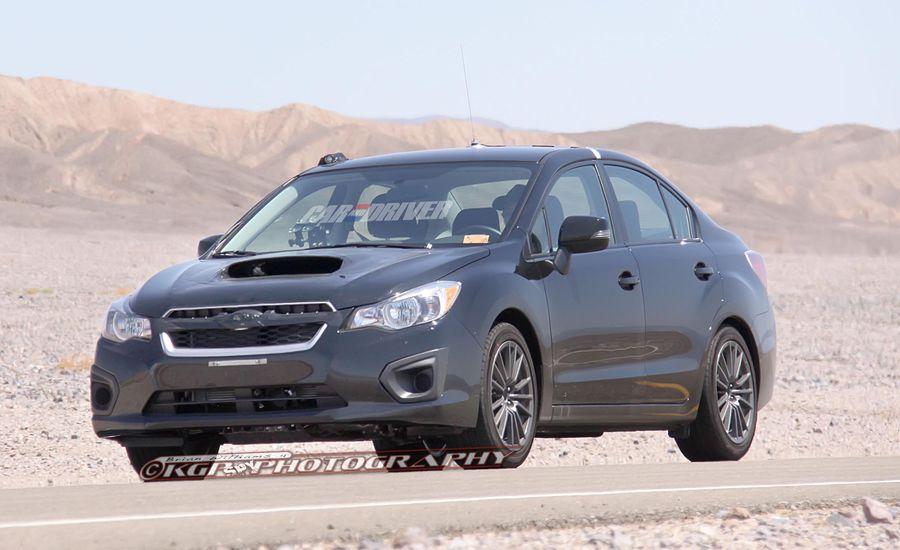 2014 Subaru WRX Spy Photos