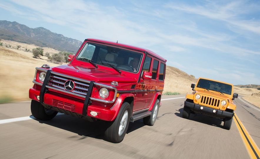 2012 Mercedes-Benz G550 and 2012 Jeep Wrangler Unlimited Rubicon - Slide 1