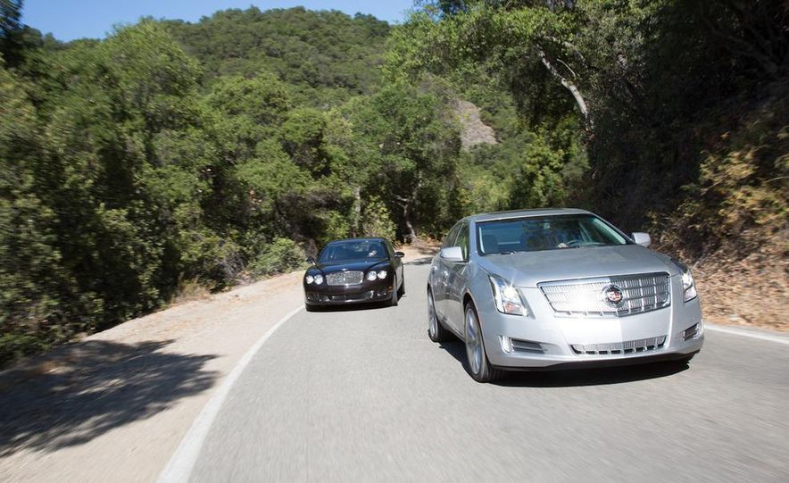 2012 Bentley Continental Flying Spur Speed and 2013 Cadillac XTS Platinum - Slide 1