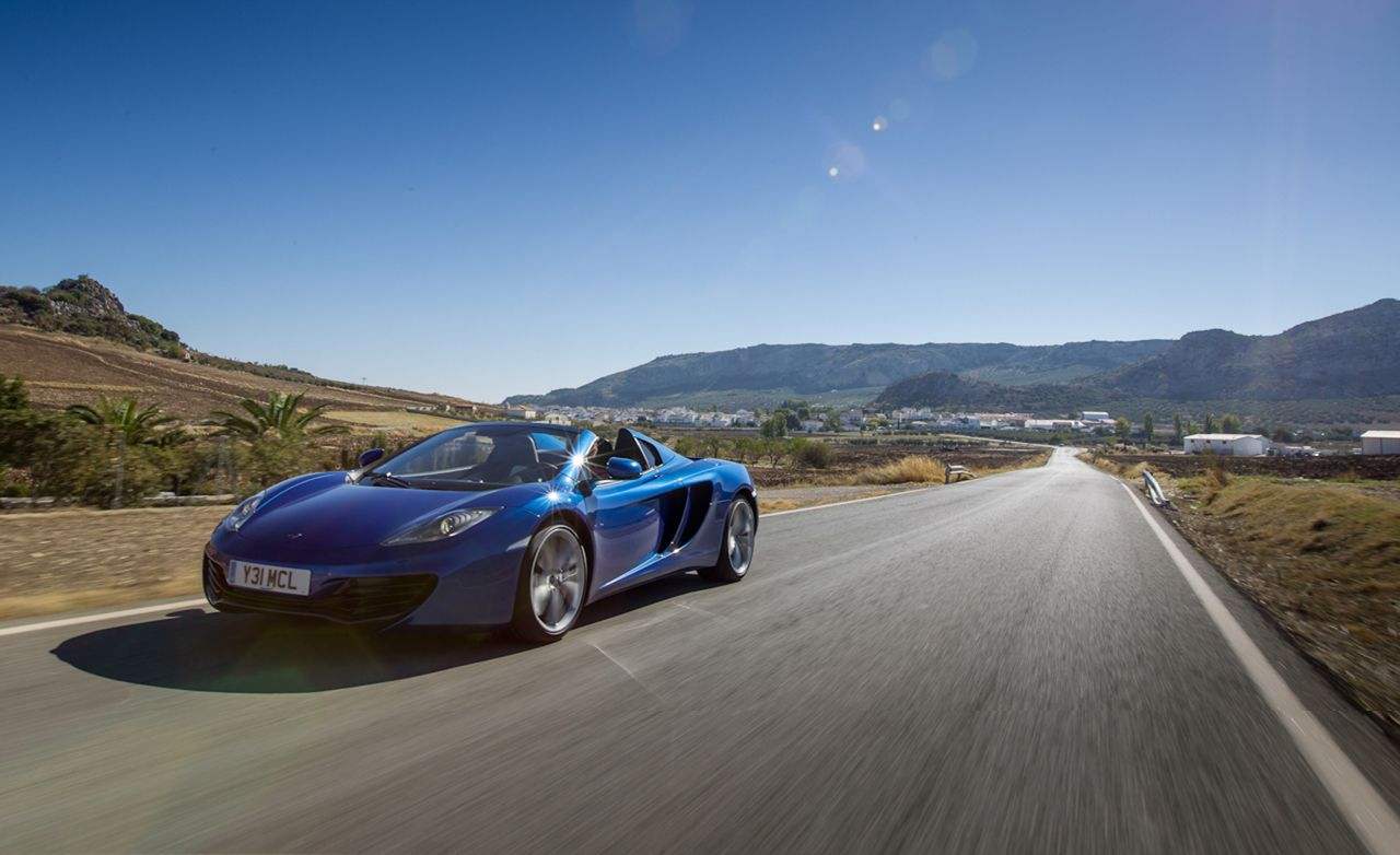 2013 mclaren mp4-12c spider first drive – review – car