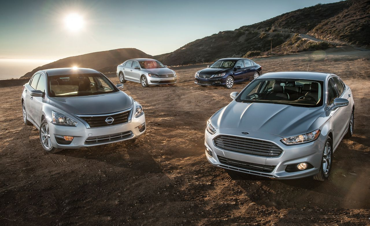2013 Ford Fusion SE EcoBoost vs. 2013 Honda Accord EX 2013 Nissan Altima 2.5 SV 2012 Volkswagen Passat 2.5 SE u2013 Comparison Test u2013 Car and Driver & 2013 Ford Fusion SE EcoBoost vs. 2013 Honda Accord EX 2013 Nissan ... markmcfarlin.com