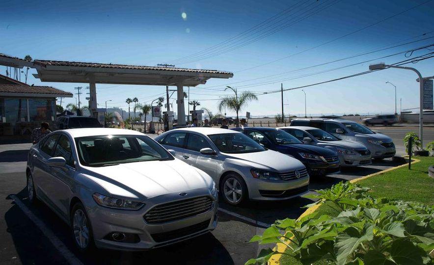 2013 Nissan Altima 2.5 SV sedan, 2012 Volkswagen Passat 2.5 SE, 2013 Honda Accord EX sedan, and 2013 Ford Fusion SE EcoBoost - Slide 15