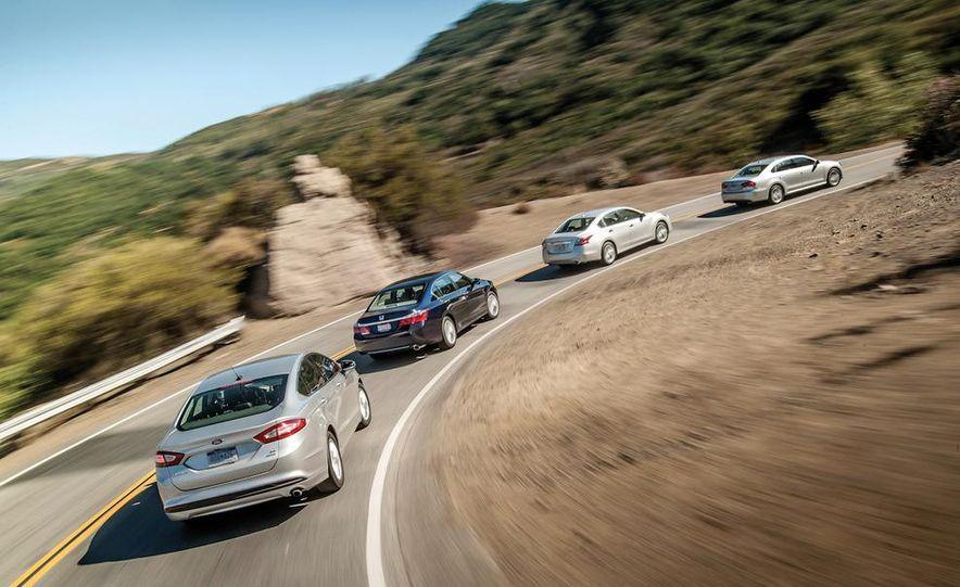2013 Nissan Altima 2.5 SV sedan, 2012 Volkswagen Passat 2.5 SE, 2013 Honda Accord EX sedan, and 2013 Ford Fusion SE EcoBoost - Slide 12