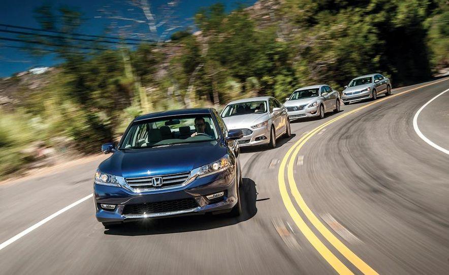 2013 Nissan Altima 2.5 SV sedan, 2012 Volkswagen Passat 2.5 SE, 2013 Honda Accord EX sedan, and 2013 Ford Fusion SE EcoBoost - Slide 7