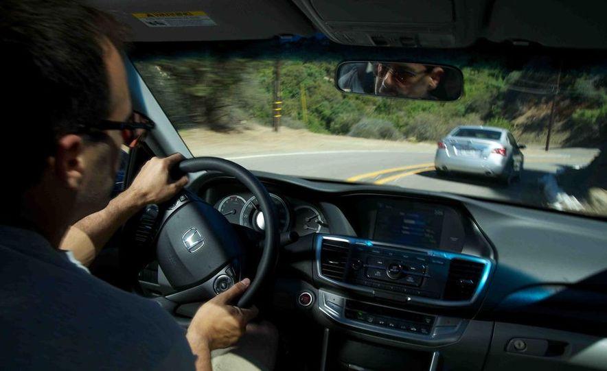 2013 Nissan Altima 2.5 SV sedan, 2012 Volkswagen Passat 2.5 SE, 2013 Honda Accord EX sedan, and 2013 Ford Fusion SE EcoBoost - Slide 53