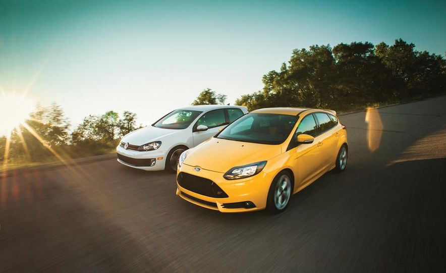2012 Volkswagen GTI and 2013 Ford Focus ST - Slide 1