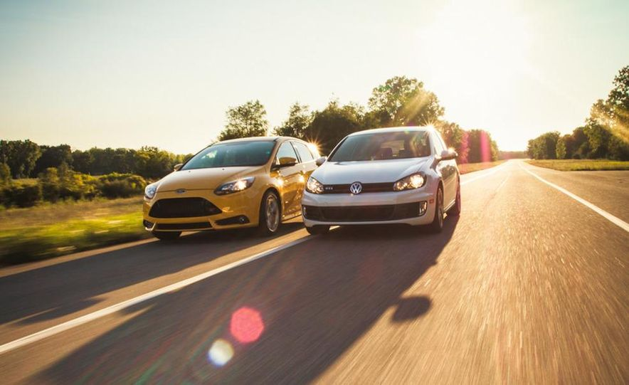 2012 Volkswagen GTI and 2013 Ford Focus ST - Slide 13