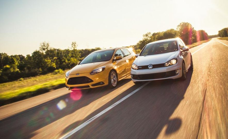 2012 Volkswagen GTI and 2013 Ford Focus ST - Slide 14