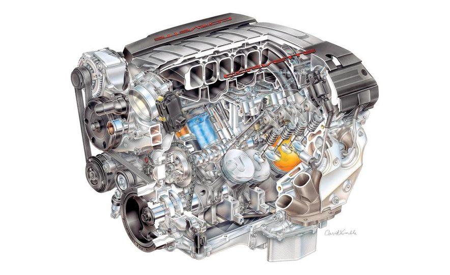 2014 Chevrolet Corvette C7 6.2-liter V-8 engine (artist's rendering) - Slide 1