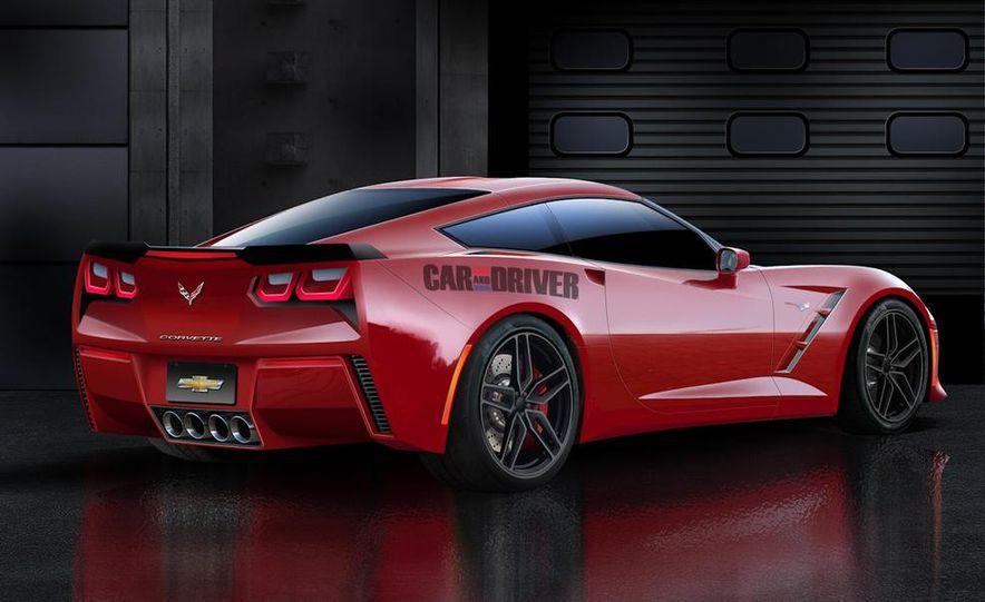 2014 Chevrolet Corvette C7 6.2-liter V-8 engine (artist's rendering) - Slide 6