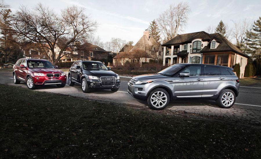 2013 BMW X3 xDrive28i vs. 2013 Audi Q5 2.0T, 2013 Land Rover Range Rover Evoque