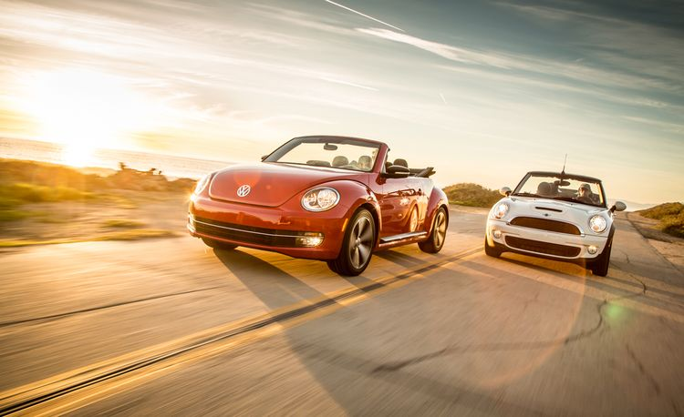 2013 Volkswagen Beetle Turbo Convertible vs. 2013 Mini Cooper S Convertible