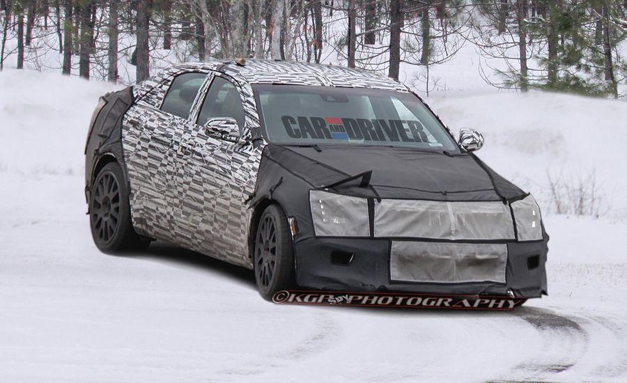 2014 Cadillac ATS-V Spy Photos