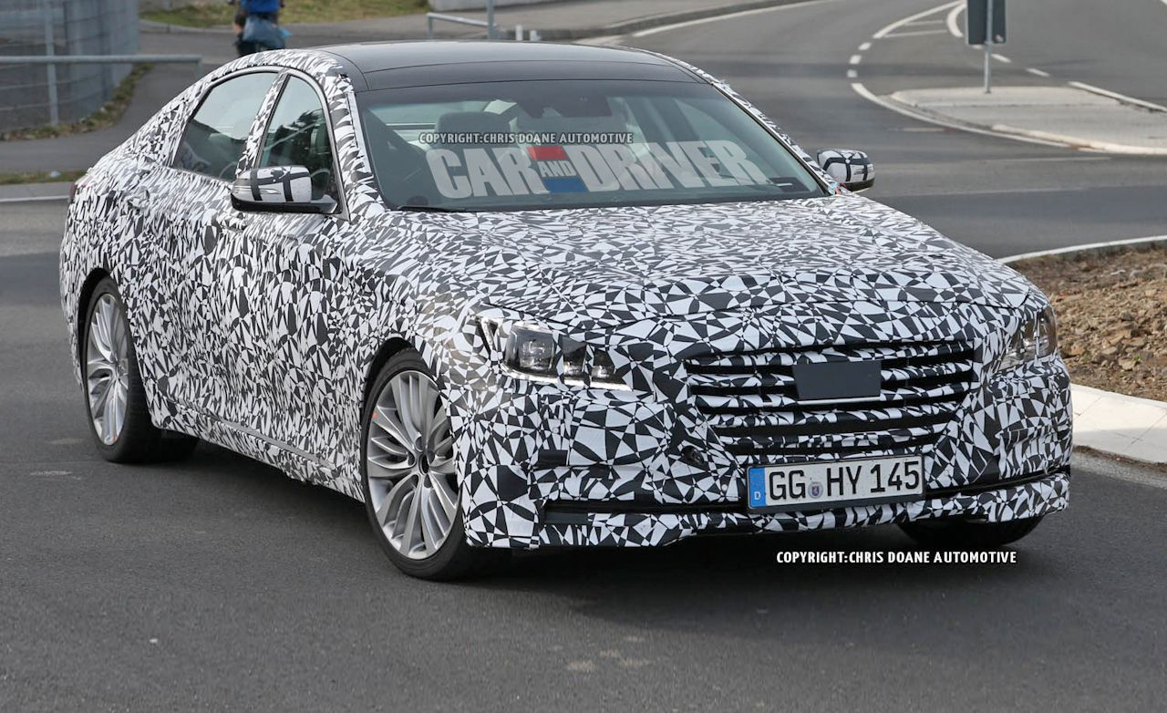 2014 Hyundai Genesis Spy Photos