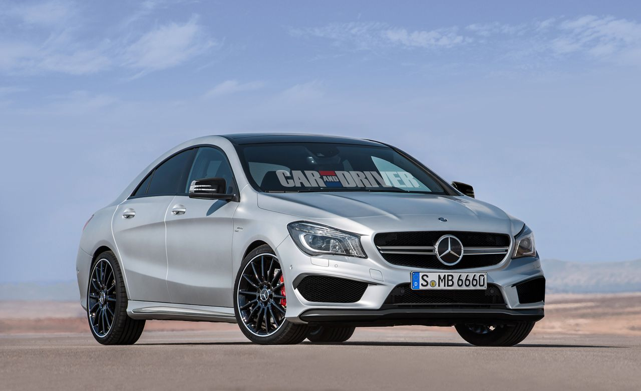 2014 mercedes benz cla45 amg news car and driver. Black Bedroom Furniture Sets. Home Design Ideas