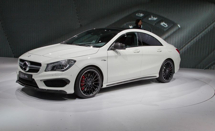 2014 mercedes benz cla45 amg photos and info news car and driver. Black Bedroom Furniture Sets. Home Design Ideas