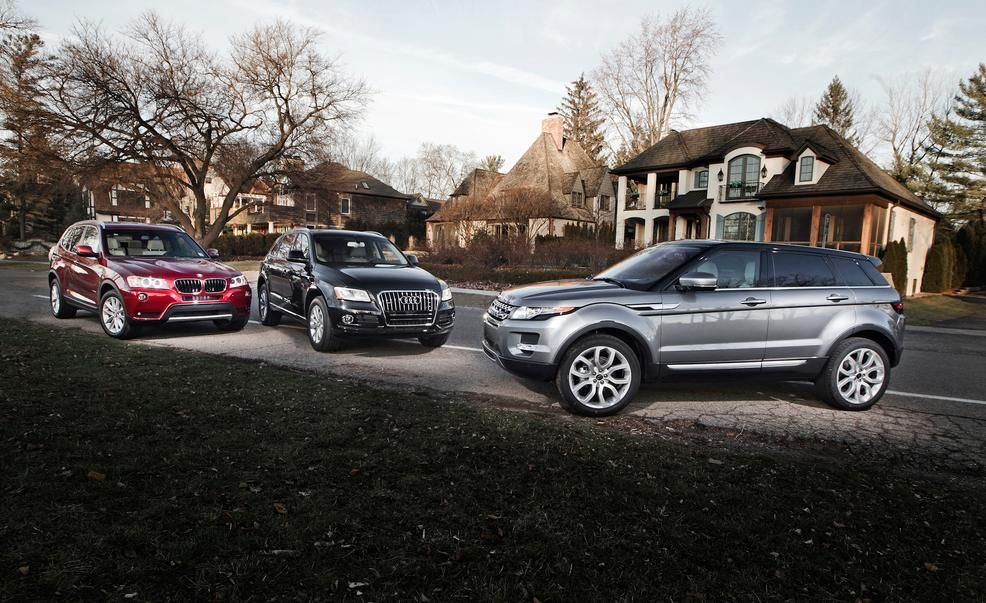 2013 BMW X3 Xdrive28i Audi Q5 20t And Land Rover