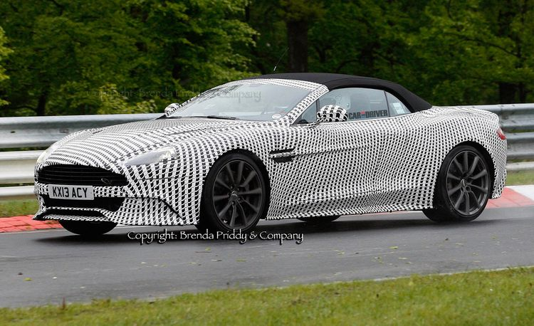 2014 Aston Martin Vanquish Volante Spy Photos