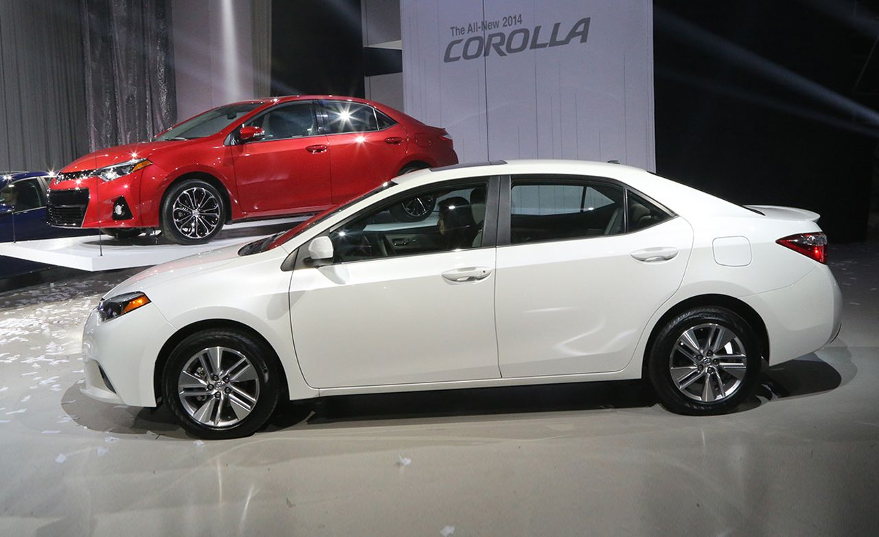 2014 toyota corolla photos and info news car and driver. Black Bedroom Furniture Sets. Home Design Ideas