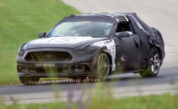 2015 Ford Mustang Spied with Exposed Front End!