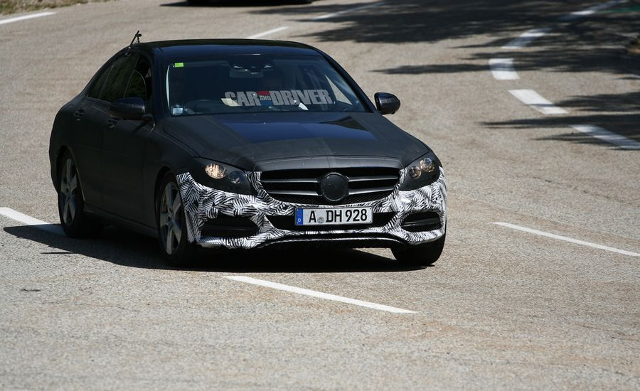 2015 Mercedes-Benz C-class Spy Photos: Adopting the Corporate Look