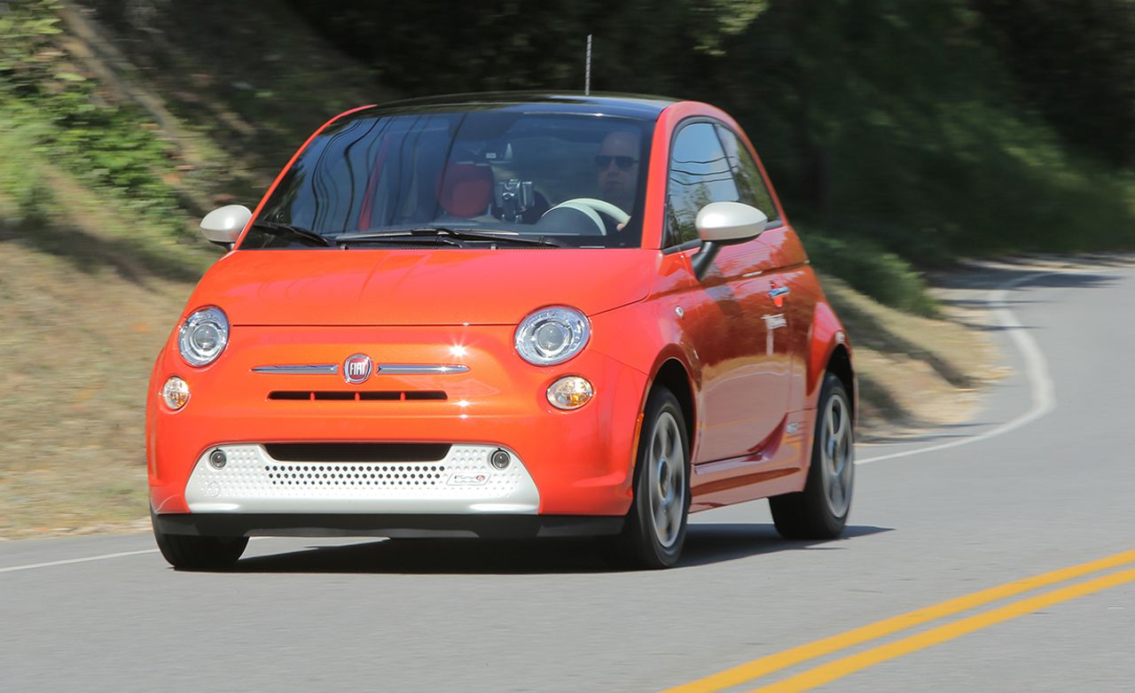 2013 fiat 500e ev first drive review car and driver. Black Bedroom Furniture Sets. Home Design Ideas