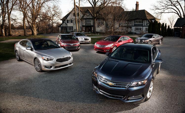 2014 Chevrolet Impala LT vs. 2013 Chrysler 300S, 2013 Dodge Charger SXT, 2013 Hyundai Azera, 2014 Kia Cadenza, 2013 Toyota Avalon XLE