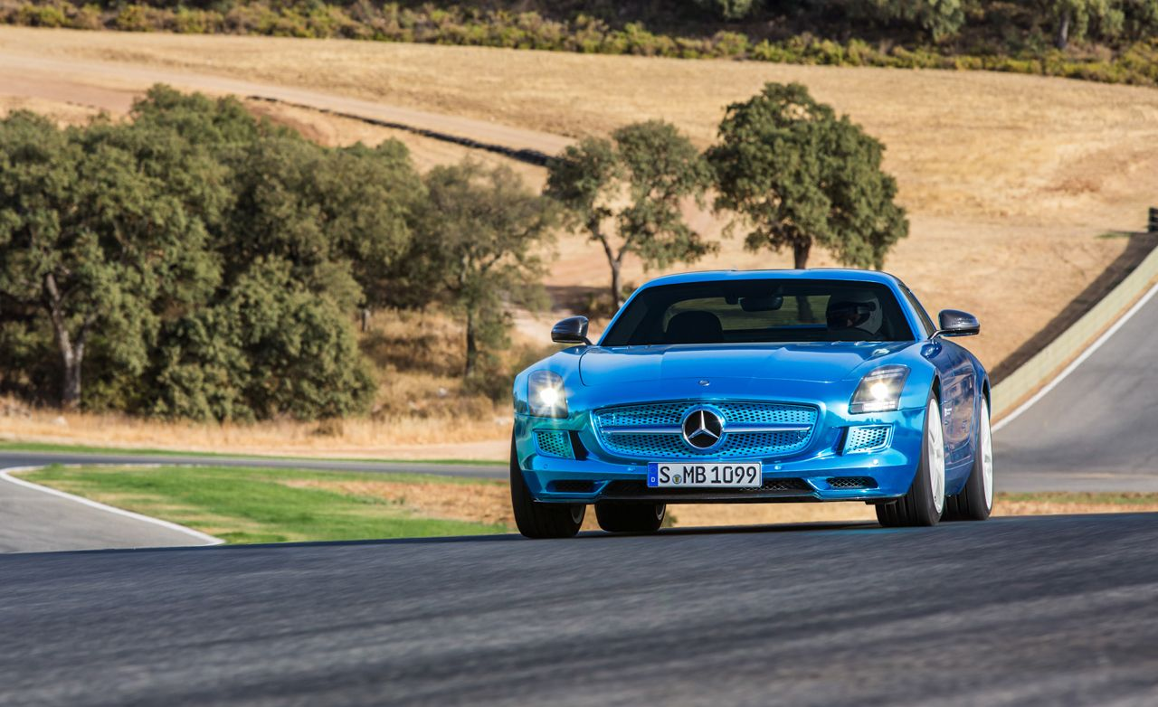 2014 mercedes benz sls amg electric drive first drive review car and driver