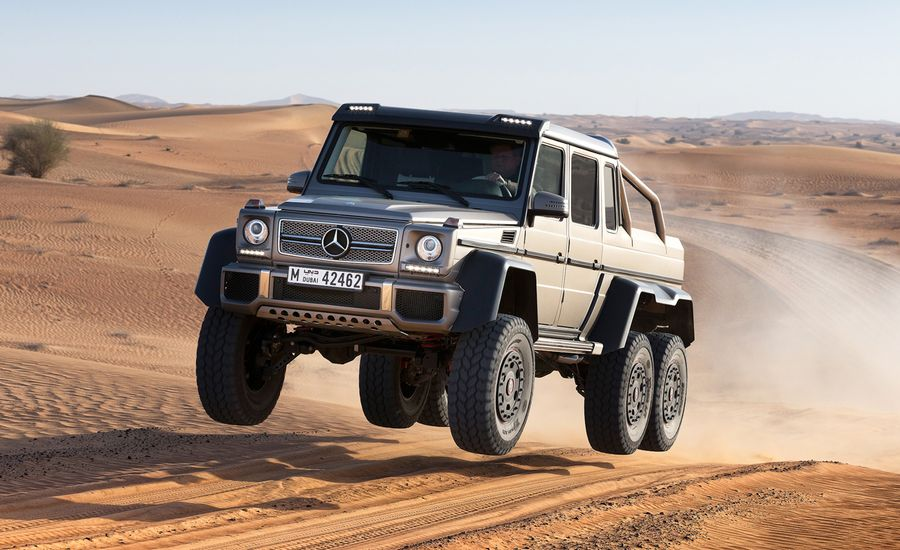 mercedes benz g63 amg 6x6 prototype drive review car and driver. Black Bedroom Furniture Sets. Home Design Ideas