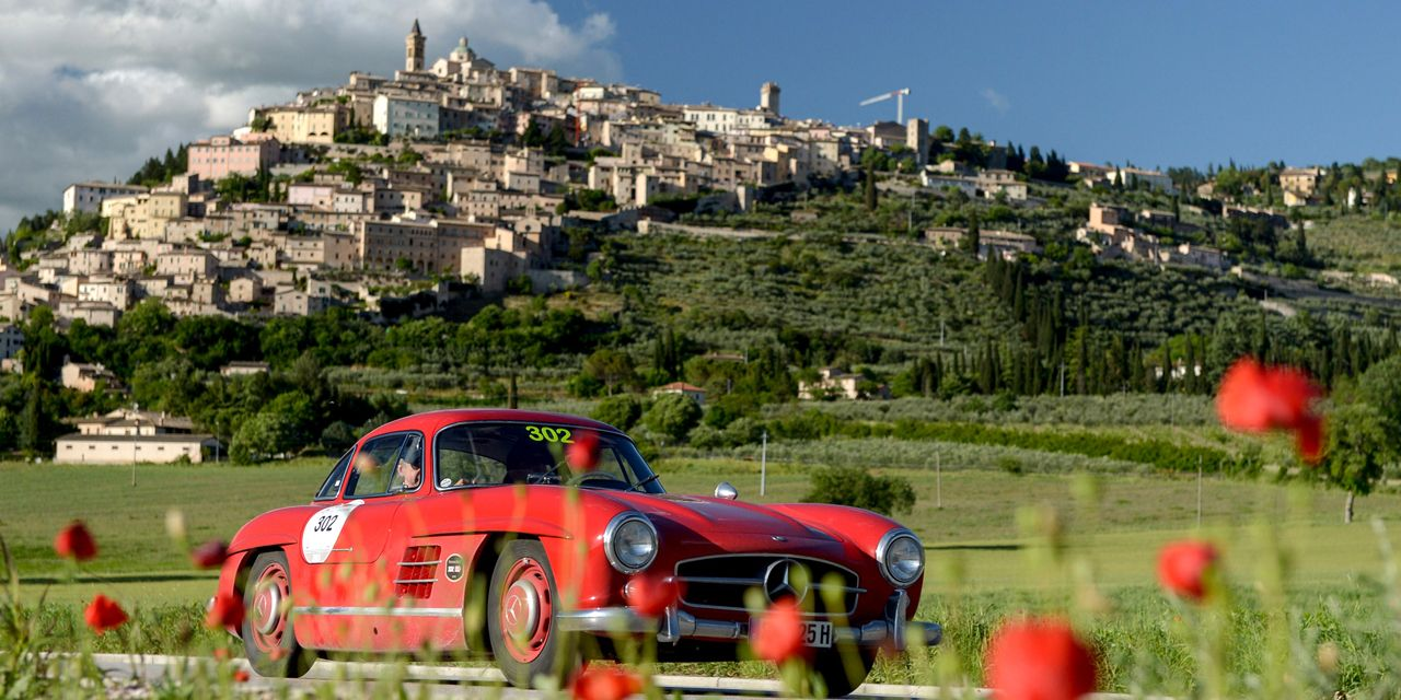 Go, Go, Gullwing! We Wheel a '55 300SL in the Mille Miglia Storica