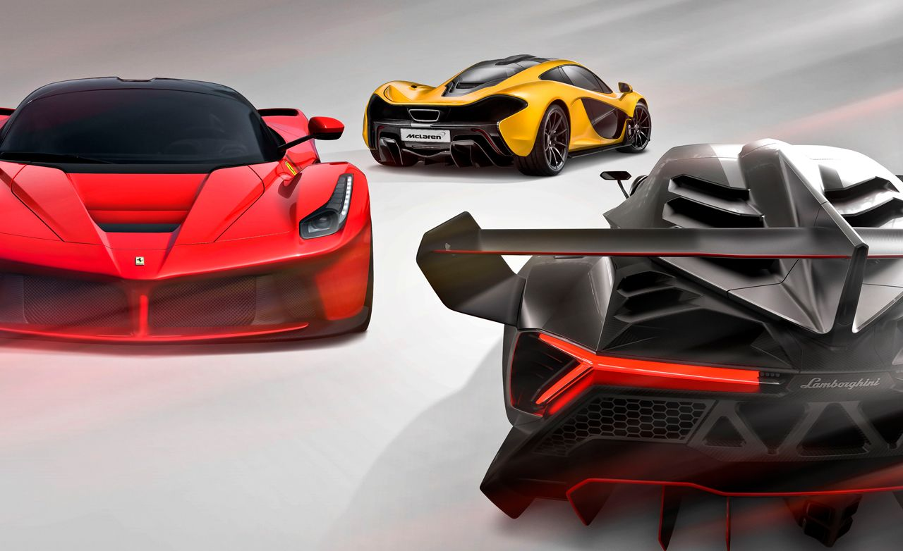 lamborghini veneno black and orange. hyping hypercars 2014 ferrari laferrari vs mclaren p1 lamborghini veneno u2013 comparison test car and driver black orange