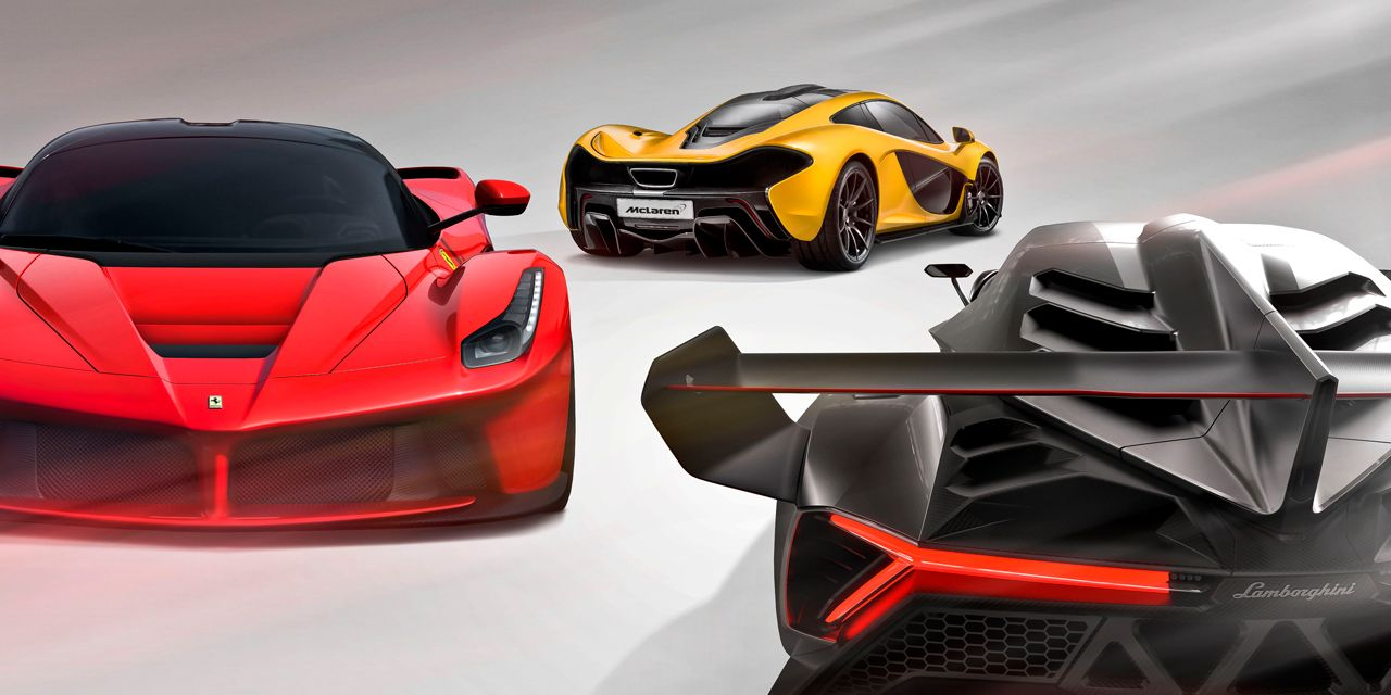 Hyping Hypercars: 2014 Ferrari LaFerrari vs. 2014 McLaren P1, Lamborghini Veneno