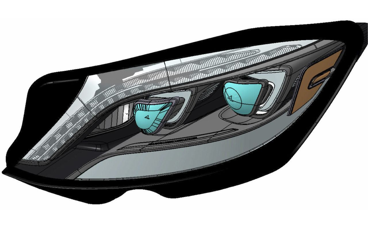 LED Zeppelin: The 2014 Mercedes-Benz S-class's Radical Lighting Scheme