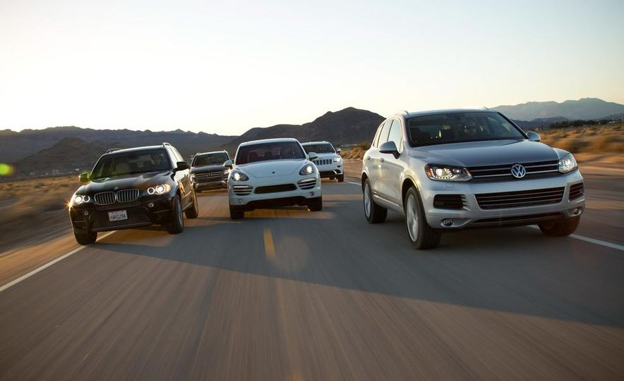 2014 Jeep Grand Cherokee Summit EcoDiesel, 2013 BMW X5 xDrive35d, 2013 Mercedes-Benz ML350 BlueTec 4MATIC, 2013 Porsche Cayenne diesel, and 2013 Volkswagen Touareg TDI - Slide 2