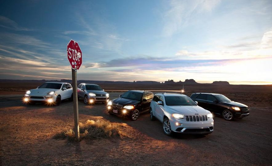 2014 Jeep Grand Cherokee Summit EcoDiesel, 2013 BMW X5 xDrive35d, 2013 Mercedes-Benz ML350 BlueTec 4MATIC, 2013 Porsche Cayenne diesel, and 2013 Volkswagen Touareg TDI - Slide 13