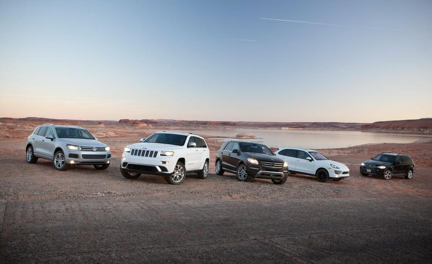2014 Jeep Grand Cherokee Summit EcoDiesel, 2013 BMW X5 xDrive35d, 2013 Mercedes-Benz ML350 BlueTec 4MATIC, 2013 Porsche Cayenne diesel, and 2013 Volkswagen Touareg TDI - Slide 10