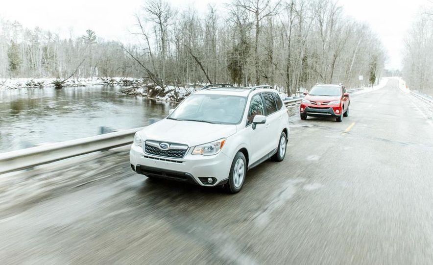 2013 Toyota RAV4 XLE AWD, 2014 Subaru Forester 2.5i Touring, and 2014 Mazda CX-5 Grand Touring AWD - Slide 16