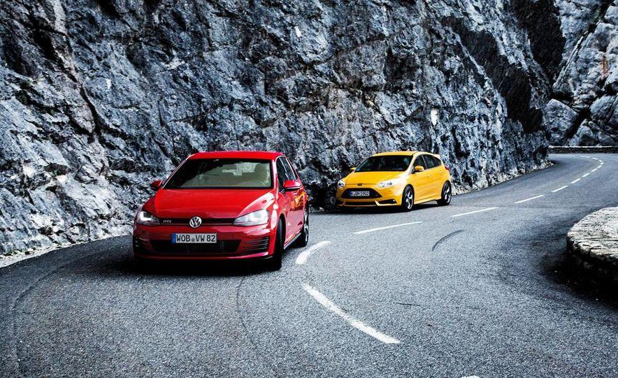 2015 Volkswagen GTI 5-door and 2013 Ford Focus ST (Euro-spec) - Slide 5