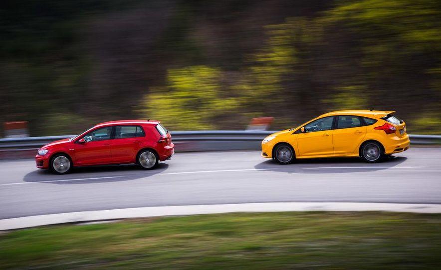 2015 Volkswagen GTI 5-door and 2013 Ford Focus ST (Euro-spec) - Slide 8