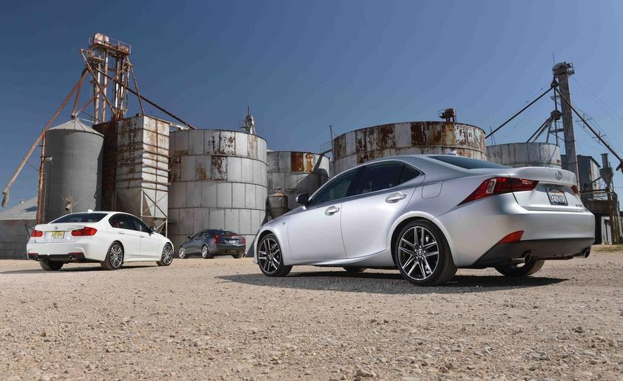2014 Lexus IS350 F Sport, 2013 BMW 335i M Sport, and 2013 Cadillac ATS 3.6 - Slide 7