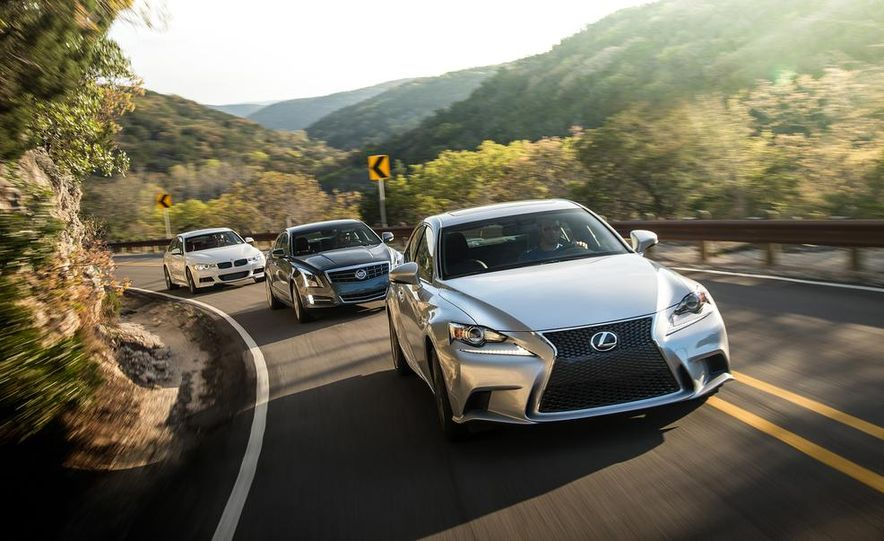 2014 Lexus IS350 F Sport, 2013 BMW 335i M Sport, and 2013 Cadillac ATS 3.6 - Slide 9