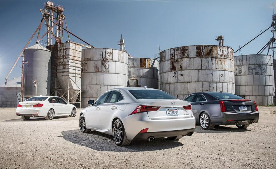 2014 Lexus IS350 F Sport, 2013 BMW 335i M Sport, and 2013 Cadillac ATS 3.6 - Slide 10