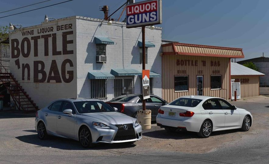 2014 Lexus IS350 F Sport, 2013 BMW 335i M Sport, and 2013 Cadillac ATS 3.6 - Slide 5
