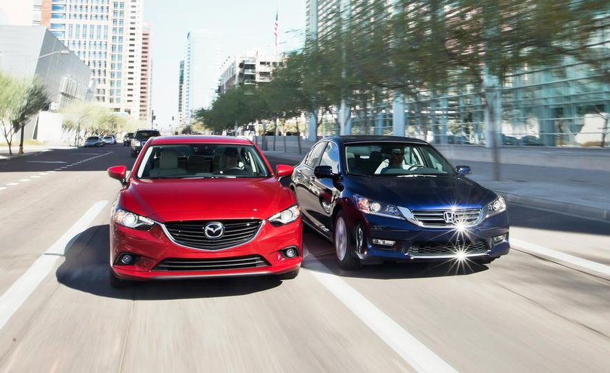 2014 Mazda 6 Grand Touring and 2013 Honda Accord EX-L - Slide 1