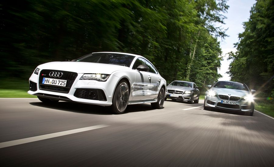 2014 Audi RS7 vs. 2014 BMW M6 Gran Coupe, 2014 Mercedes-Benz CLS63 AMG S-model