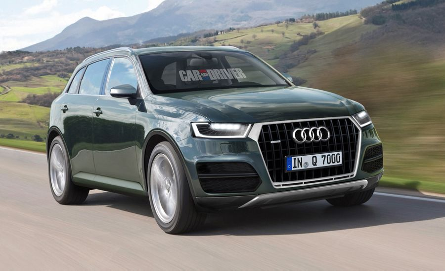 2015 Audi Q7 Rendered, Detailed