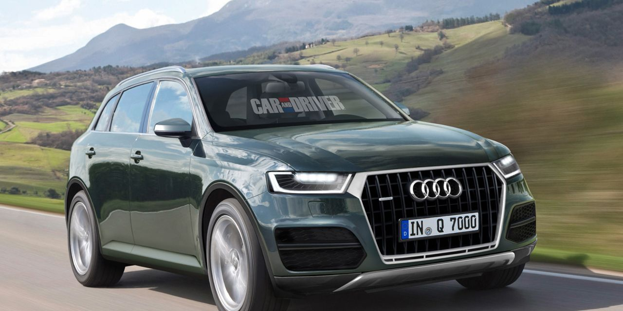 2015 Audi Q7 Rendered, Detailed
