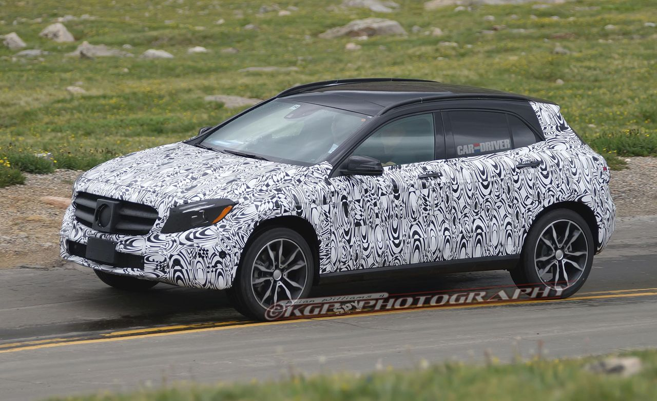 2015 Mercedes-Benz GLA-class Spy Photos: Production Shape and Interior Revealed